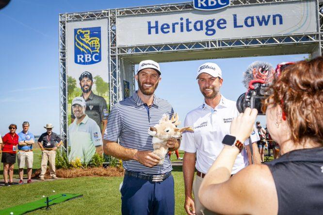 Dustin Johnson y Webb Simpson, en el RBC Heritage © RBC Heritage