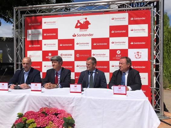 Presentación del Santander Golf Tour en Málaga.