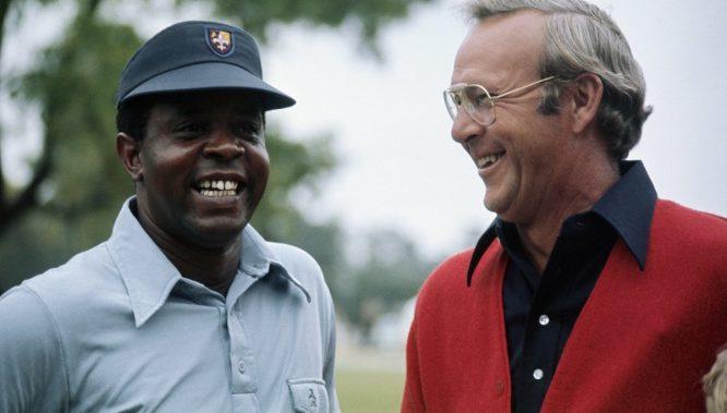 Lee Elder y Arnold Palmer.