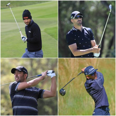 De arriba a abajo y de izquierda a derecha: Alejandro Cañizares, Álvaro Quirós, Pablo Larrazábal y Rafa Cabrera Bello. © Golffile