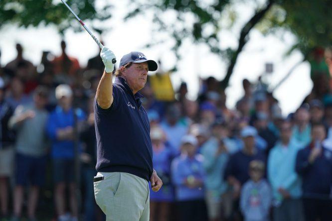 Phil Mickelson, esta semana en Bethpage. © Golffile   Fran Caffrey