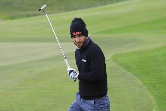 Alejandro Cañizares durante la segunda jornada en Himmerland Golf. © Golffile   Phil Inglis