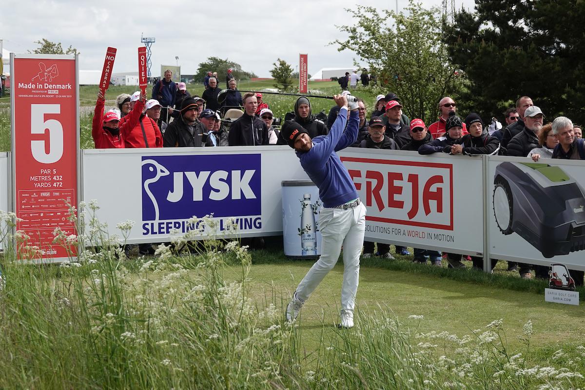 Alejandro Cañizares en la tercera ronda en Himmerland Golf. © Golffile | Phil Inglis