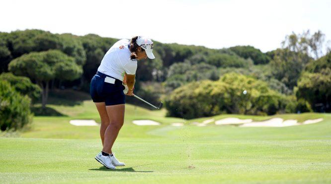 María Parra, en plena acción en la segunda ronda en La Reserva.