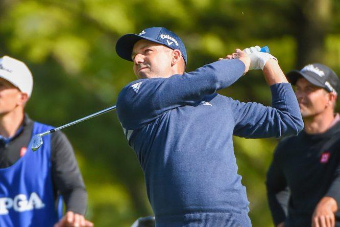 Sergio García durante la primera jornada del PGA Championship. © Golffile   Ken Murray