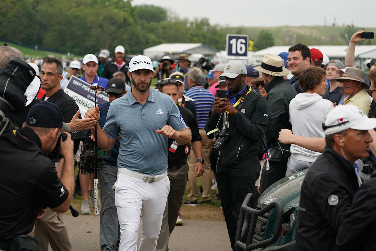 Dustin Johnson en la jornada final del PGA Championship 2019. © Golffile   Fran Caffrey
