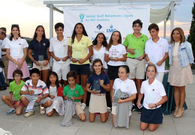 Ganadores del Junior Golf Retamares Open by IMG Academy en 2018.