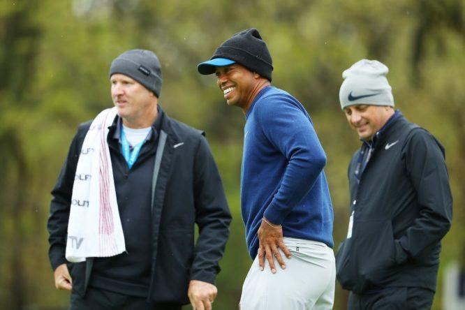 Tiger Woods y su caddie © PGA Championship