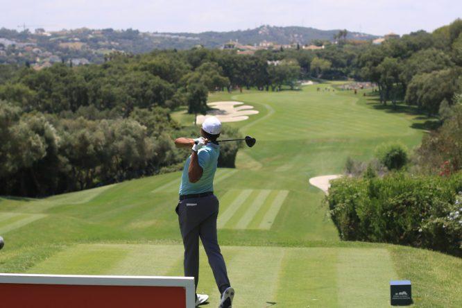 Julian Suri en la segunda ronda del Estrella Damm Andalucía Masters en Valderrama. © Golffile | Thos Caffrey