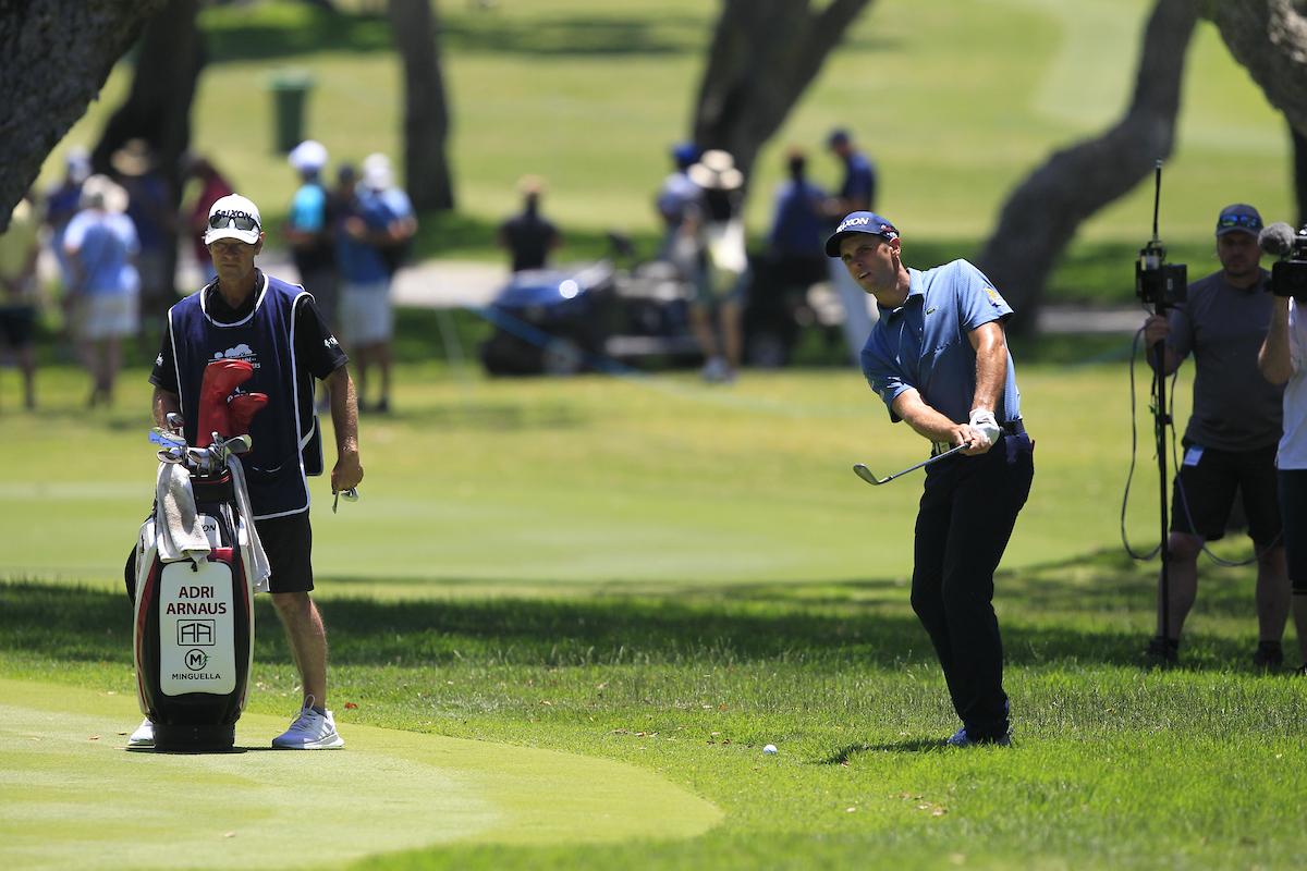 Adri Arnaus en la tercera ronda en Valderrama. © Golffile   Thos Caffrey