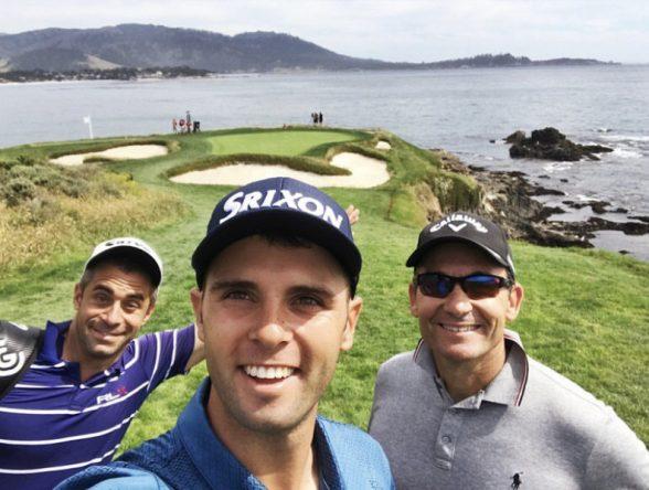 Arnaus, con su equipo en Pebble Beach © Instagram