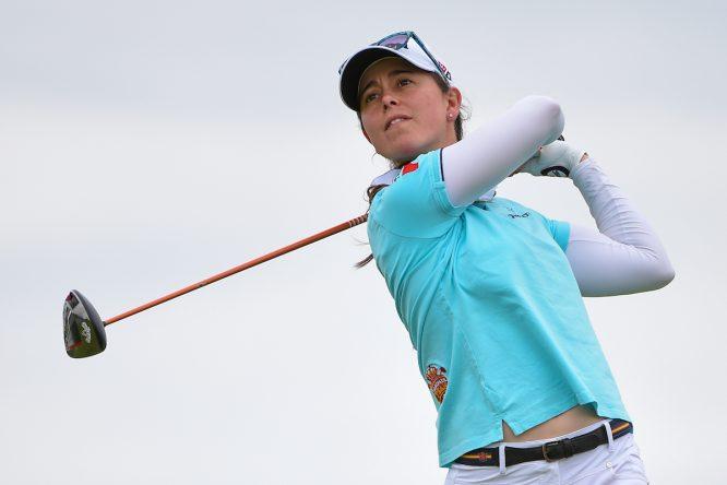 Nuria Iturrios (ESP), durante la tercera ronda del KPMG Women's PGA Championship. (© Golffile | Ken Murray)