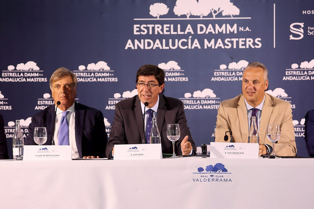 Presentación del Estrella Damm N.A. Andalucía Masters – Fundación Sergio García. © Agencia Freelance