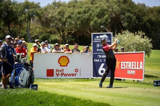 Sergio García durante la segunda vuelta del Estrella Damm Andalucía Masters en Valderrama. © RC Valderrama