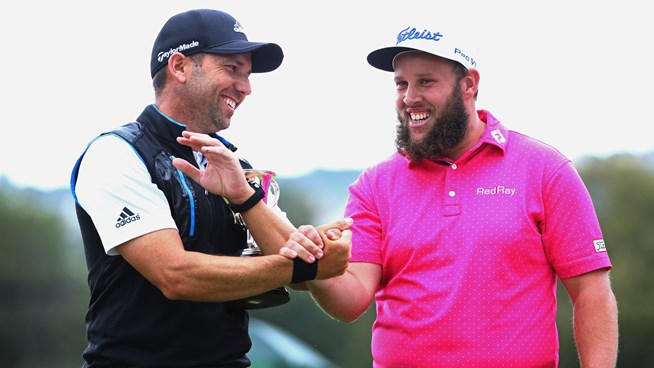 Sergio García y Andrew 'Beef' Johnston en 2016. © Real Club Valderrama