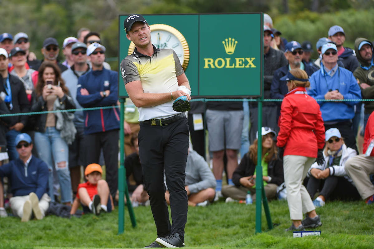 Danny Willett en la tercera ronda en Pebble Beach. © Golffile | Ken Murray