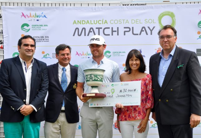 Liam Johnston, vencedor en 2018 del Andalucía Costa del Sol Match Play 9.