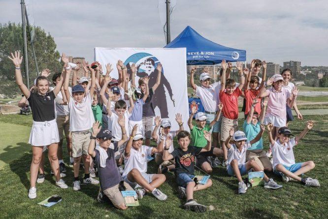 Participantes del Circuito 'Seve&Jon Golf for Kids'.