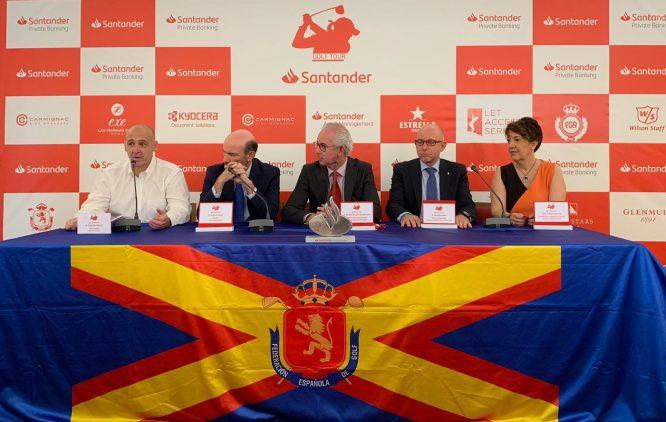 Presentación del Santander Golf Tour LETAS Valencia.