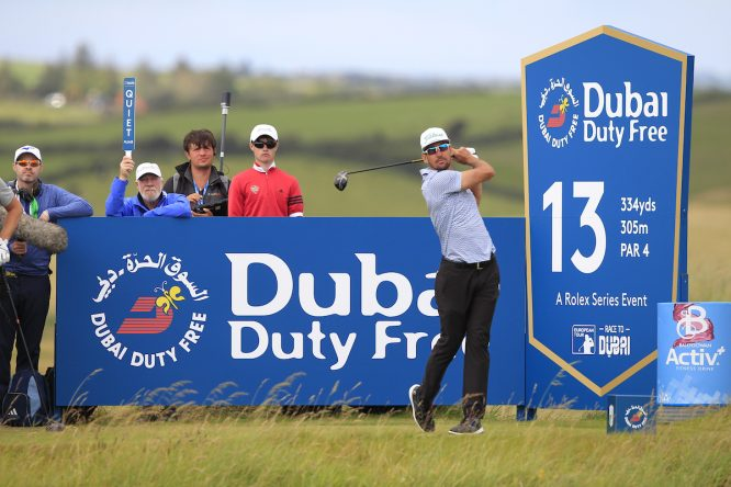 Rafa Cabrera Bello durante la segunda jornada del Dubai Duty Free Irish Open. © Golffile | Thos Caffrey