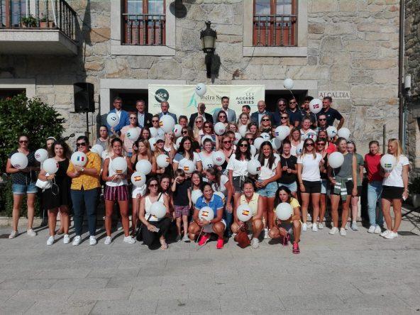 Fiesta solidaria del Ribeira Sacra Patrimonio de la Humanidad European Ladies Open celebrada en Pantón.