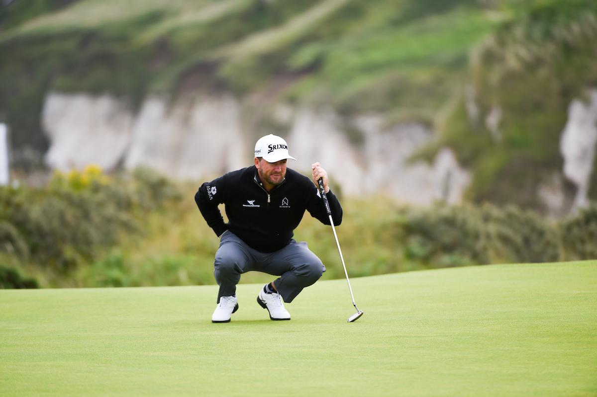 Graeme McDowell en el hoyo 5 de Royal Portrush durante la primera jornada. © Golffile | Ken Murray