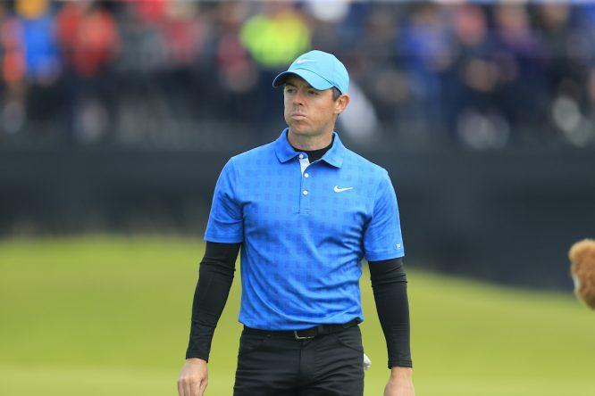 Rory McIlroy durante la primera jornada en Royal Portrush. © Golffile | Eoin Clarke