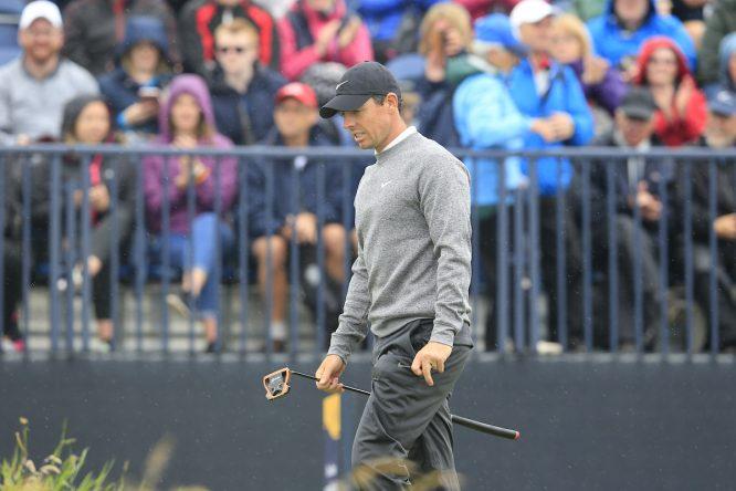 Rory McIlroy en la segunda ronda en Royal Portrush. © Golffile | Eoin Clarke