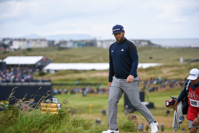 Jon Rahm durante la segunda jornada en Royal Portrush. © Golffile | Ken Murray
