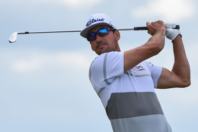 Rafa Cabrera Bello esta semana en Royal Portrush. © Golffile | Ken Murray