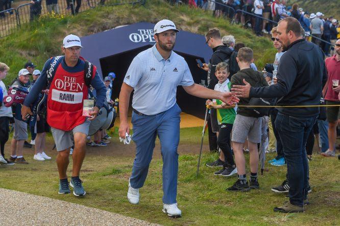 Jon Rahm durante la tercera jornada en Royal Portrush. © Golffile | Ken Murray