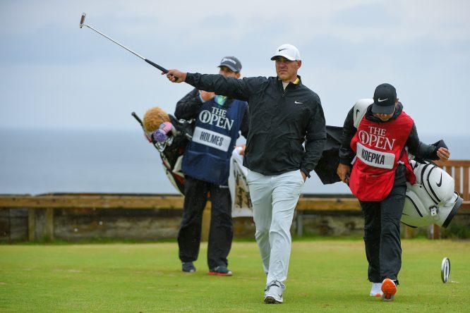 Brooks Koepka en la ronda final en Royal Portrush. © Golffile | Ken Murray