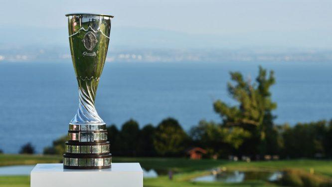 El trofeo del Evian Championship 2021, listo para la batalla. | © LPGA Tour