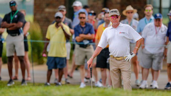 Miguel Ángel Jiménez, en la ronda final del US Senior Open © USGA