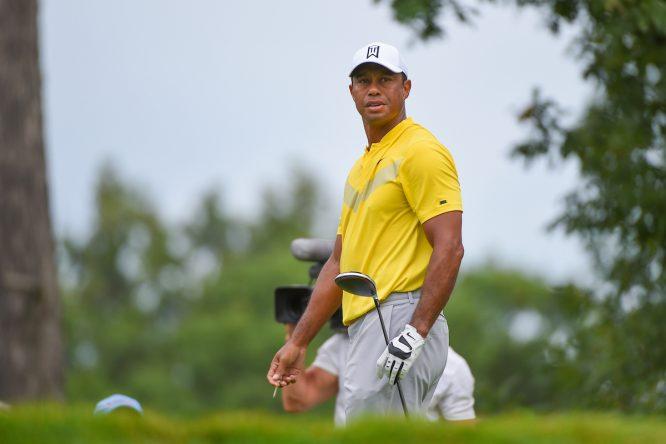 Tiger Woods durante la tercera jornada del BMW Championship. © Golffile   Ken Murray