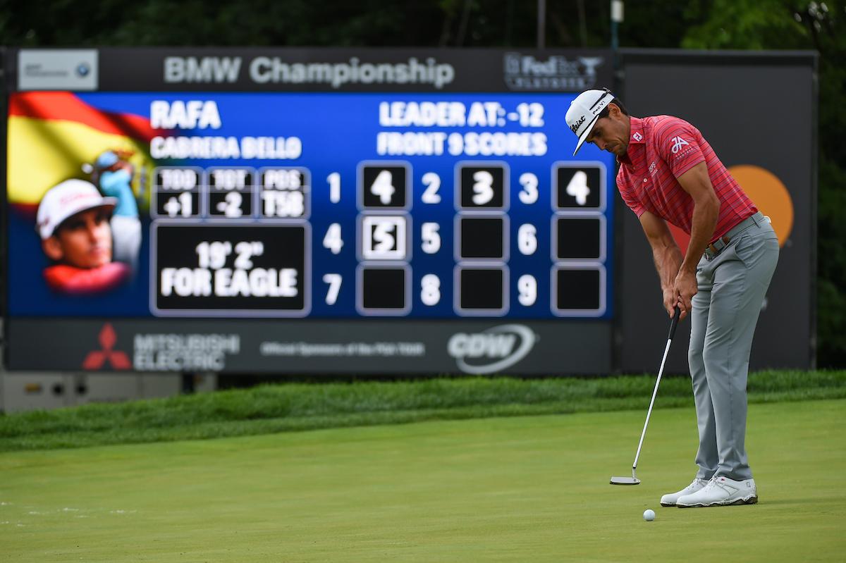 Rafa Cabrera Bello en la tercera ronda en Medinah. © Golffile   Ken Murray