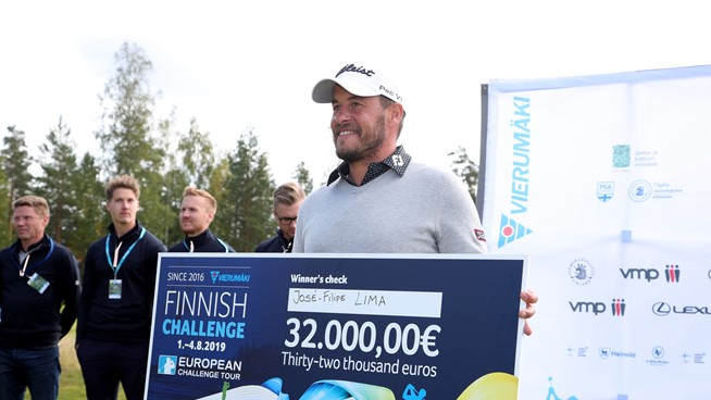 José Filipe Lima, ganador del Vierumaki Finnish Challenge. © Challenge Tour