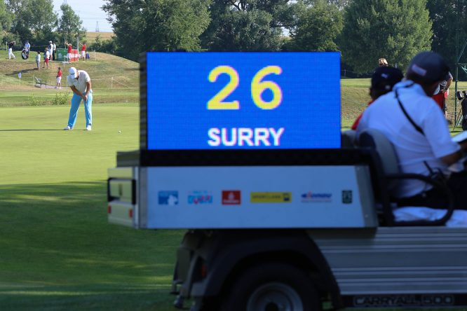 Steve Surry (ENG) during the final round of the Shot Clock Masters played at Diamond Country Club, Atzenbrugg, Vienna, Austria. 10/06/2018 Picture: Golffile   Phil Inglis All photo usage must carry mandatory copyright credit (© Golffile   Phil Inglis)
