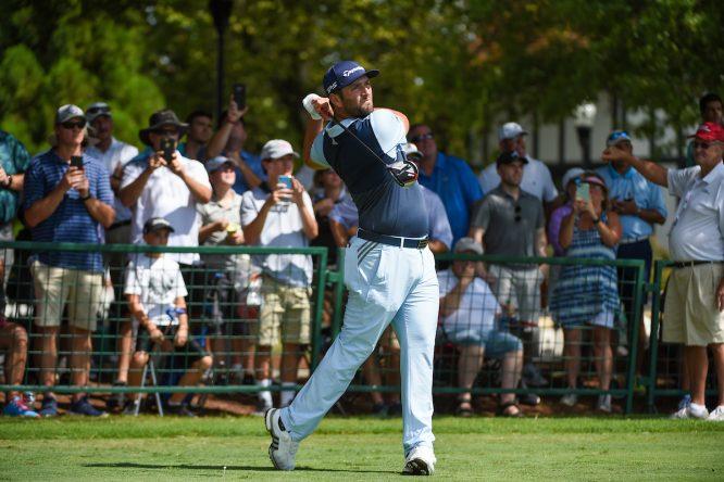 Jon Rahm durante la primera jornada del TOUR Championship. © Golffile | Ken Murray