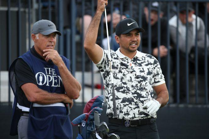 Jason Day, con Steve Williams en el Open © Golffile | David Lloyd