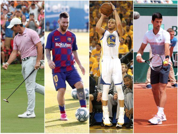 McIlroy, Messi, Curry y Djokovic © Fotomontaje