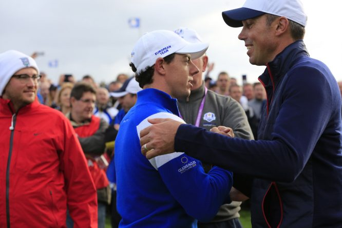 Kuchar y McIlroy, juntos en una imagen de archivo © Golffile | Eoin Clarke
