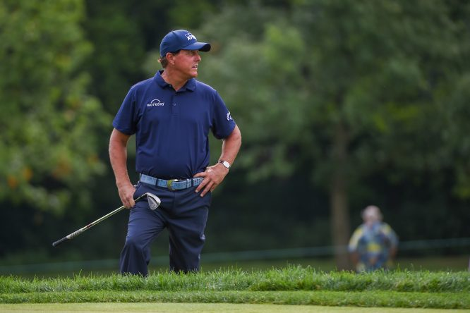 Phil Mickelson, ayer © Golffile | Ken Murray