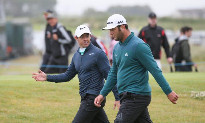 Rahm, junto a McIlroy © Golffile   David Lloyd
