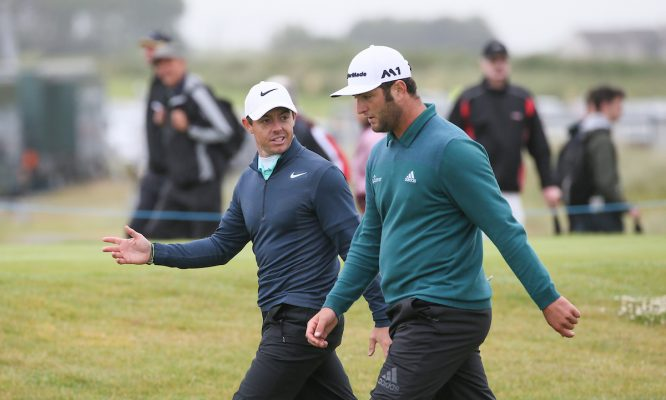 Rory McIlroy y Jon Rahm. © Golffile | David Lloyd