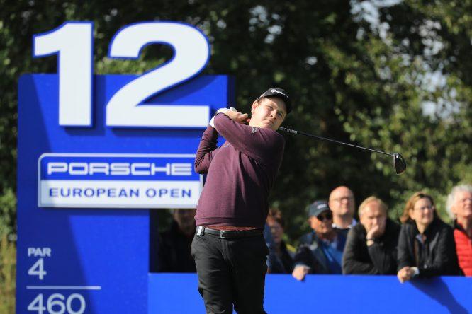 Robert Macintyre, líder del Porsche European Open, en la segunda ronda en Green Eagle Golf. © Golffile | Phil Inglis