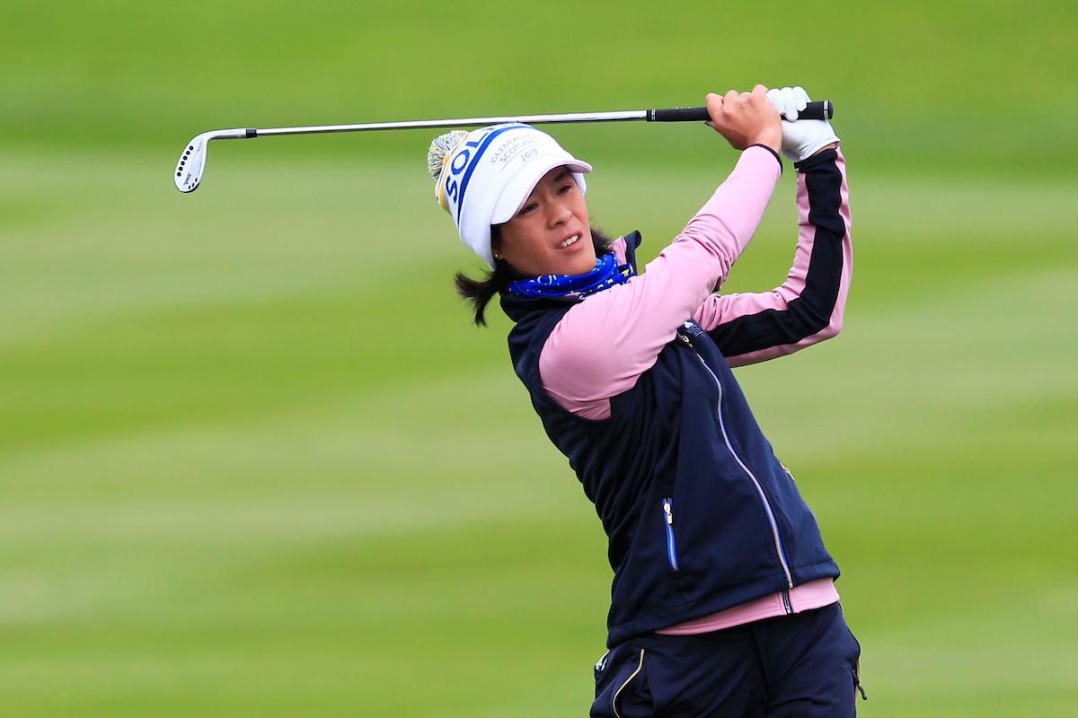 Celine Boutier el sábado en Gleneagles. © Golffile | Thos Caffrey