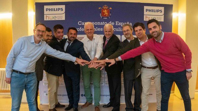 Presentación del Philips Hue Campeonato de España de Profesionales Masculino en Logroño.