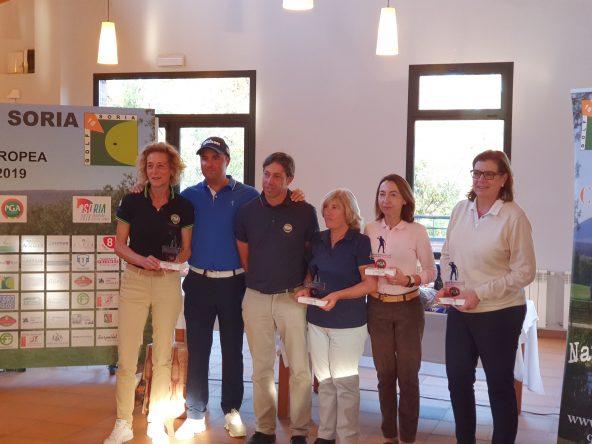 José Luis Adarraga y su equipo, ganadores del Pro-Am Soria Ciudad Europea del Deporte 2019.
