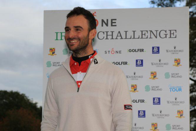 Emilio Cuartero Blanco tras su triunfo en el Stone Irish Challenge. © Golffile | Thos Caffrey